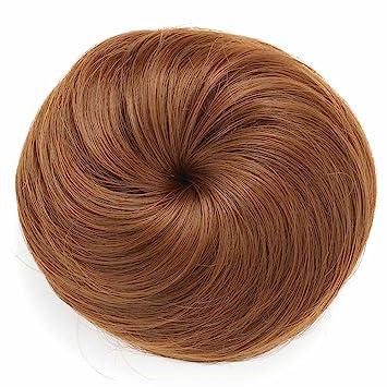 Amazon onedor synthetic hair bun extension donut chignon onedor synthetic hair bun extension donut chignon hairpiece wig 12 light brown pmusecretfo Choice Image
