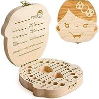 GeekerChip Bebé Dientes Caja(Niña),Caja de Madera para Guardar