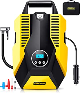 Air Compressor Pump,12V Portable Air Pump for Car Tires Digital LCD Display and Emergency Led Lighting for Car Tires YUMA Air Compressor Tire Inflator Bicycles and Other Inflatables