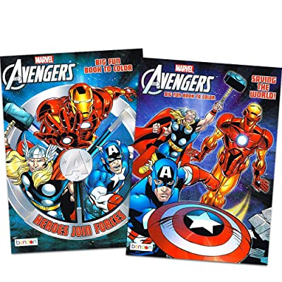 Marvel Mighty Avengers Coloring and Activity Book Set (2 Books ~ 96 pgs Each): Toys & Games