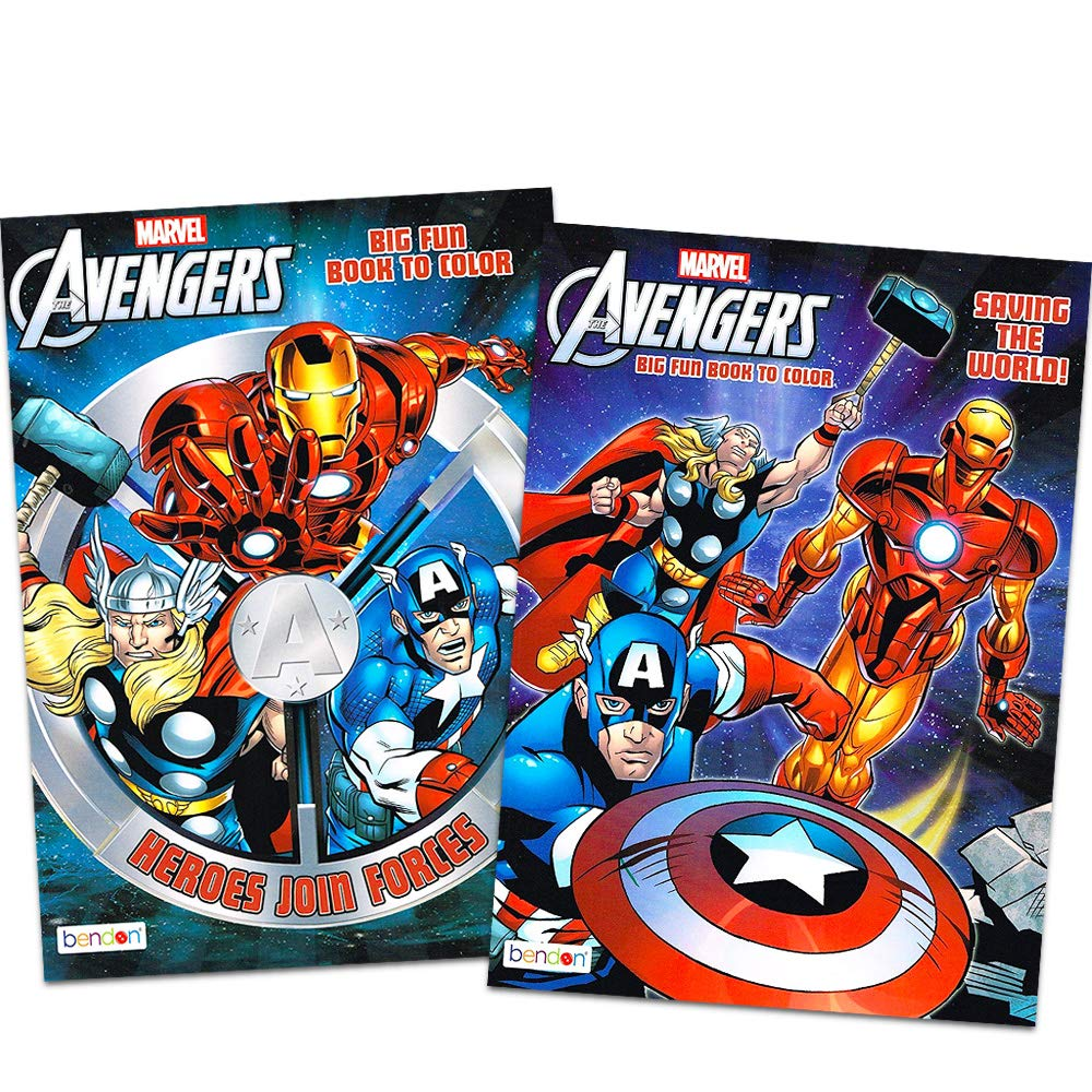 2 Books ~ 96 pgs each Marvel Mighty Avengers/Â Coloring and Activity Book Set