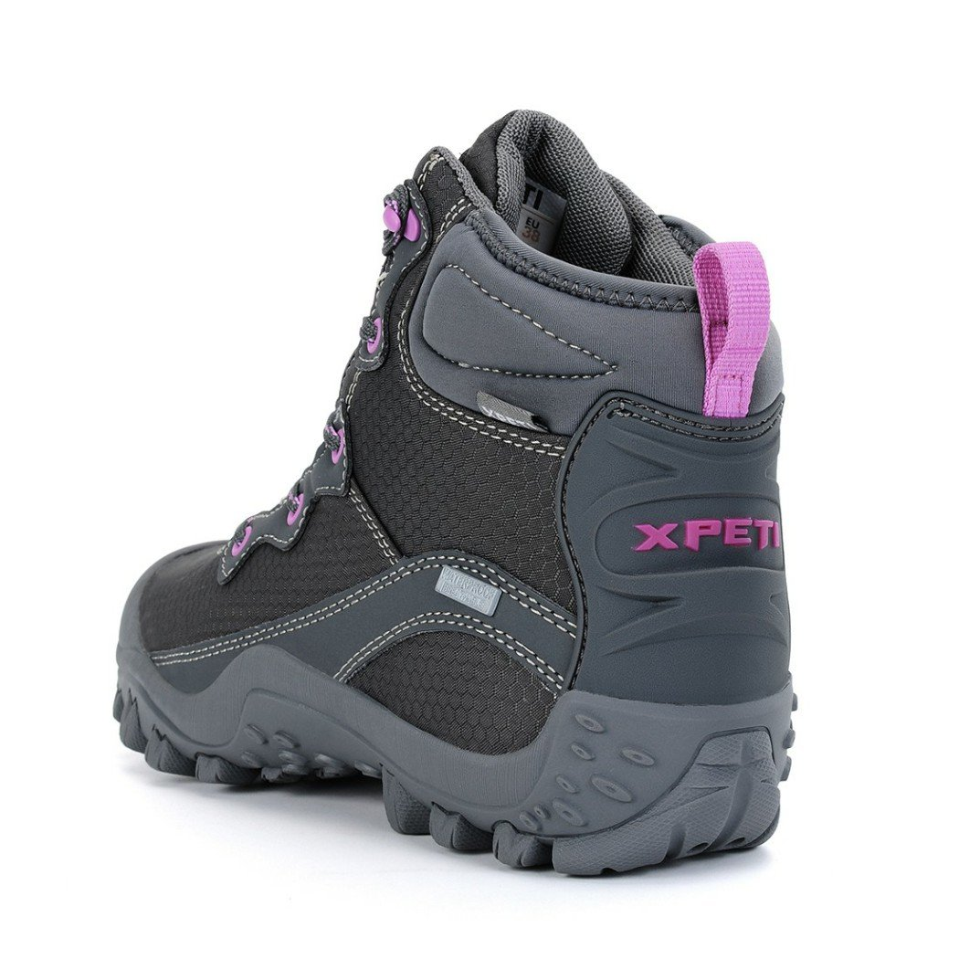 XPETI Women's Mid Waterproof Hiking Outdoor Boot (6 B(M) US, Gray) by XPETI (Image #5)