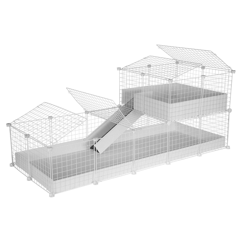 CagesCubes - Jaula CyC Deluxe (Base 2X5 + Loft 2x2 - Panel Blanco ...