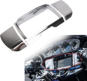 Chrome Deluxe Tri Line Stereo Trim Fit For 2014-2019 Harley Davidson Touring,Electra Glide,Street Glide,Ultra Limited & Tri-Glide Ultra