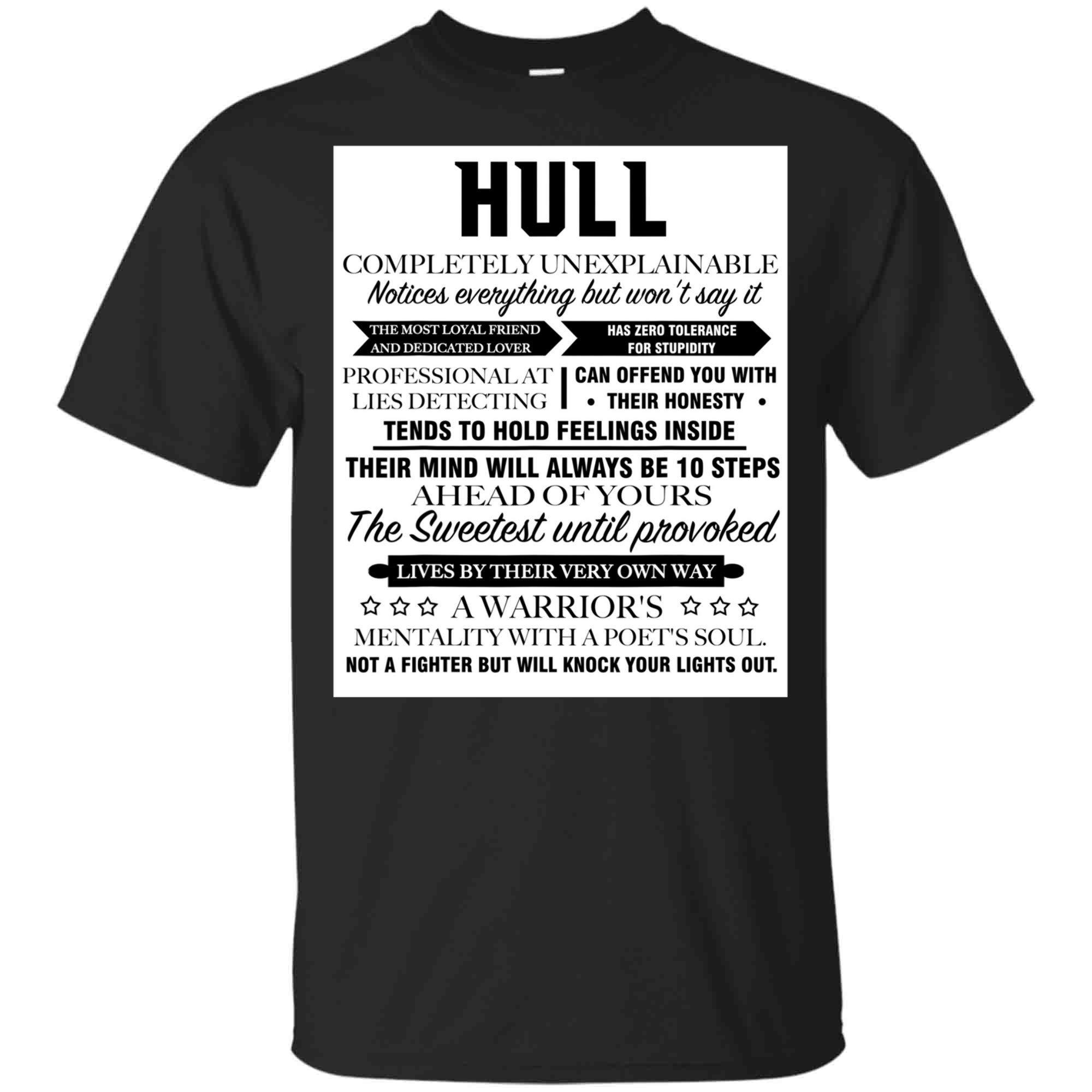 Hull Completely Unexplainable Front Print Unisex Blackl Shirts