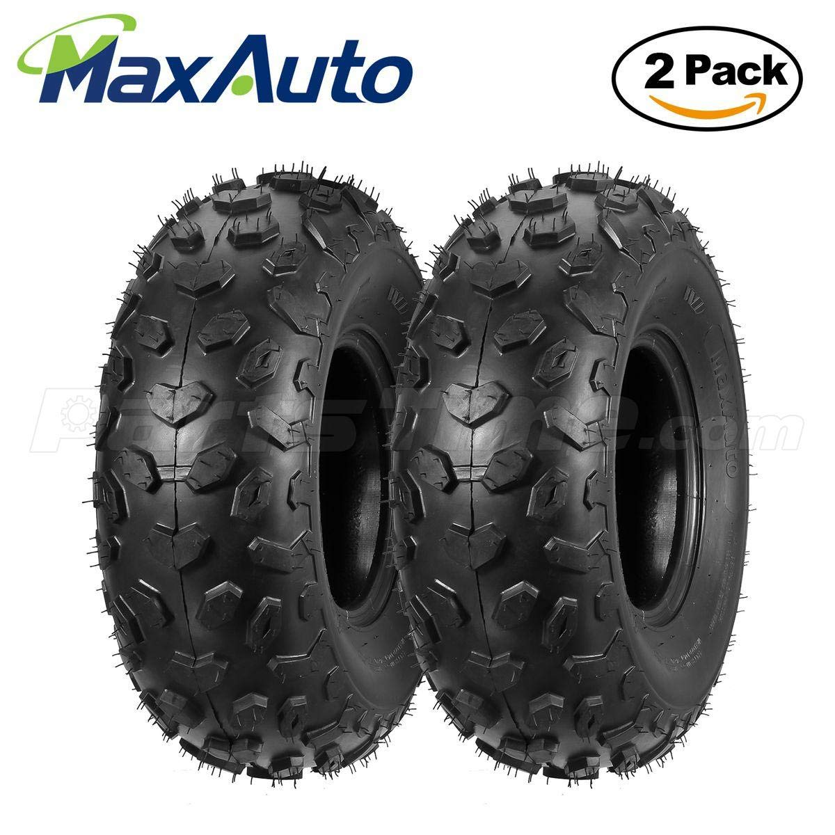 Set of 2 MaxAuto ATV Tires 19x7-8 19x7x8 Mini Bike Tires 4PR by MaxAuto