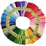 Premium Rainbow Color Embroidery Floss - Cross Stitch Threads - Friendship Bracelets Floss - Crafts Floss - 100 Skeins Per Pack (Bag)