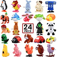 Wind-Up Toys, 24 Pack Assorted Mini Toy for Kids Party Favors, Birthday Goody Bag Filler Preschool Toy for Boys Girls…