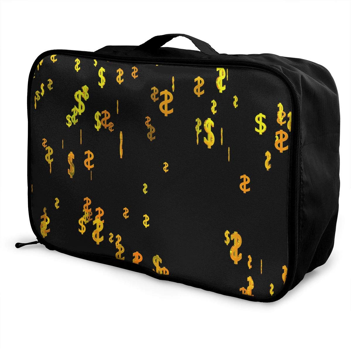 Travel Luggage Duffle Bag Lightweight Portable Handbag Dollar Pattern Large Capacity Waterproof Foldable Storage Tote