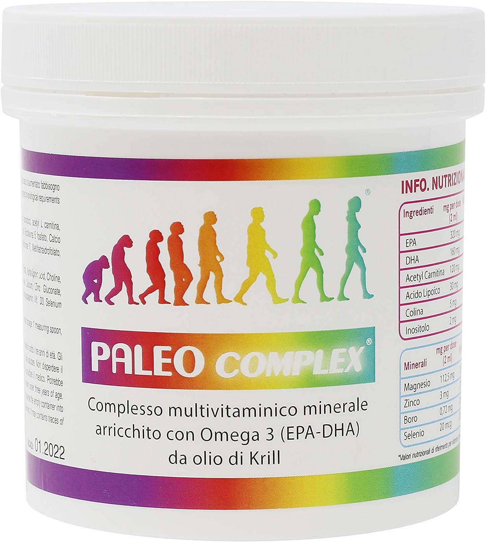 Paleocomplex - Conjunto Multivitamínico Mineral con ácidos grasos Omega 3, vitaminas D3 y K2, ALC, ácido Alfa Lipoico.: Amazon.es: Salud y cuidado personal