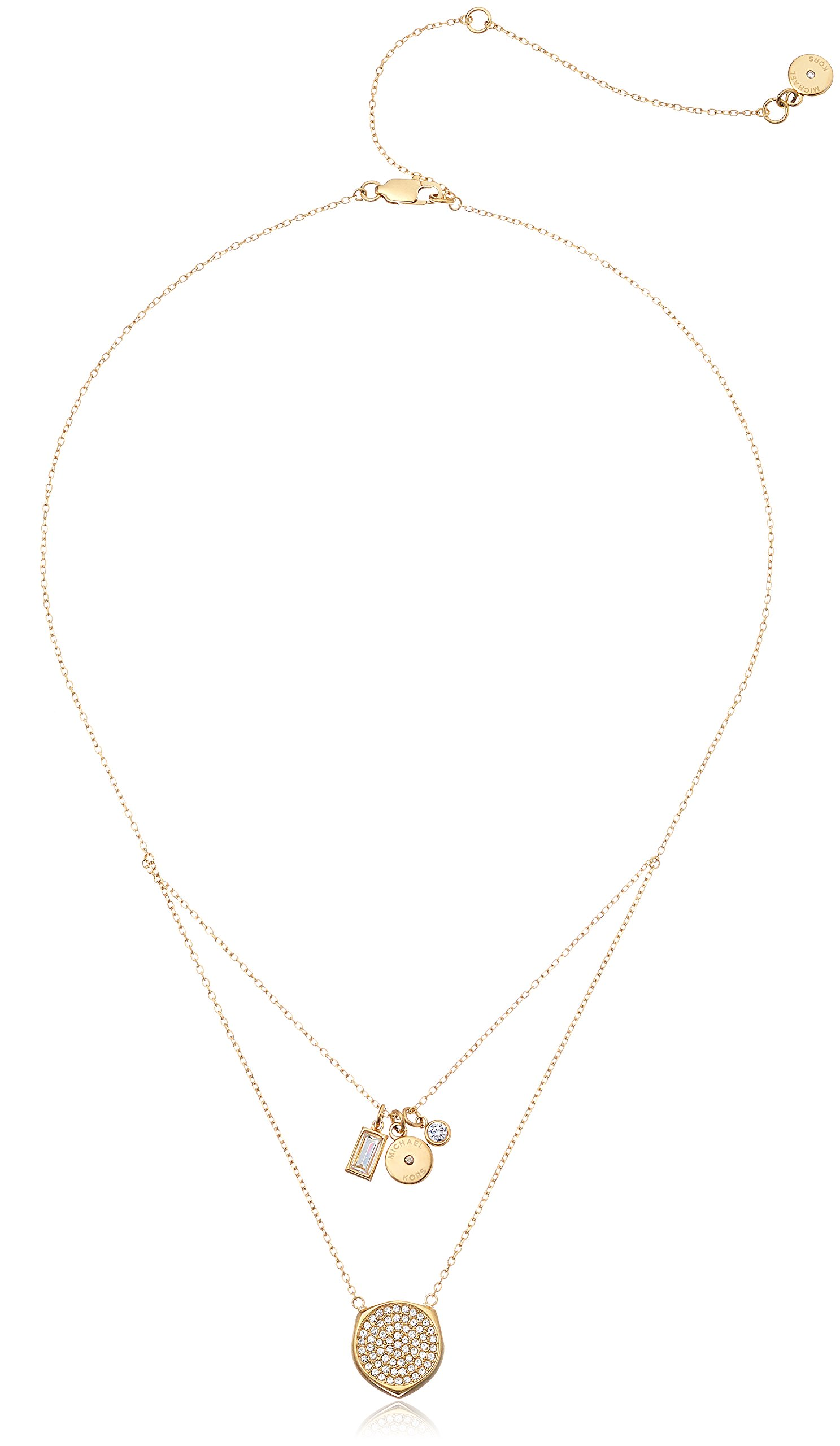 Michael Kors Beyond Brilliant Gold-Tone Pendant Necklace, 16'' + 4.75''