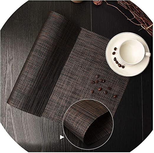 Amazon Com 45x30cm Kitchen Simple Pure Color Placemat Pvc Dining Table Mat Table Placemats For Table Decoration Accessories Coaster Pad A Home Kitchen