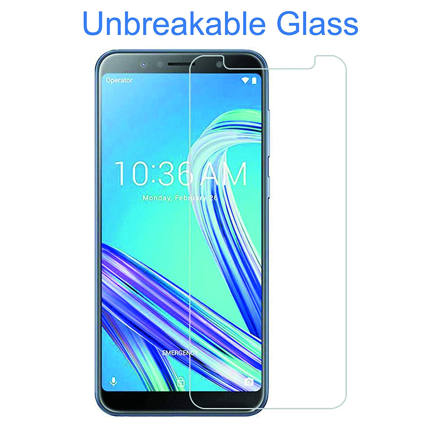 Pinglou Unbreakable Flexible Glass Screen Guard for: Amazon in