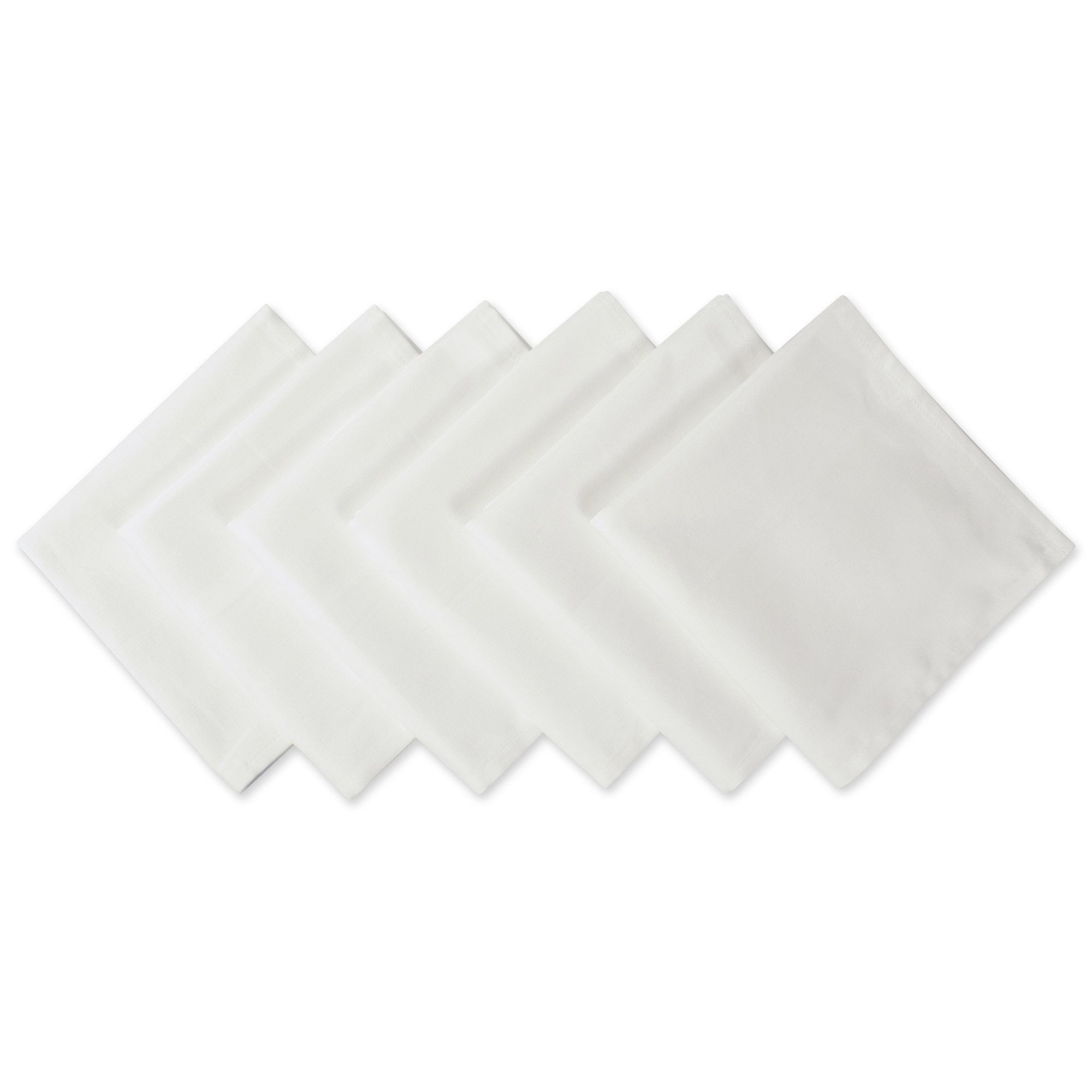DII Wrinkle Resistant 20x20 Polyester Napkin, Pack of 6, White - Perfect for Brunch, Catering Events, Thanksgiving, Dinner Parties, Showers, Weddings and Everyday Use