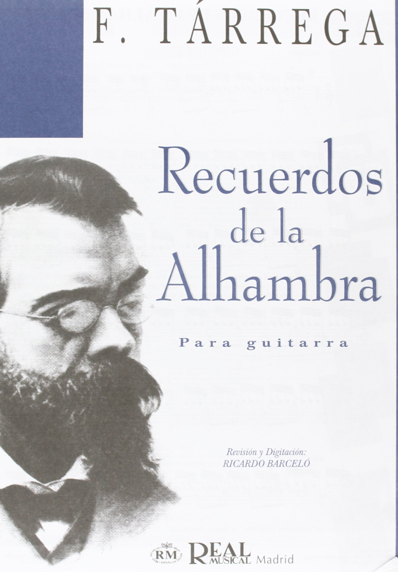 Francisco Tarrega: Recuerdos de la Alhambra para Guitarra Sheet ...