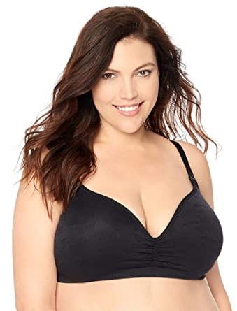 37eb43803a Jessica Simpson Plus Size Seamless Clip Down Nursing Bra at Amazon Women s  Clothing store