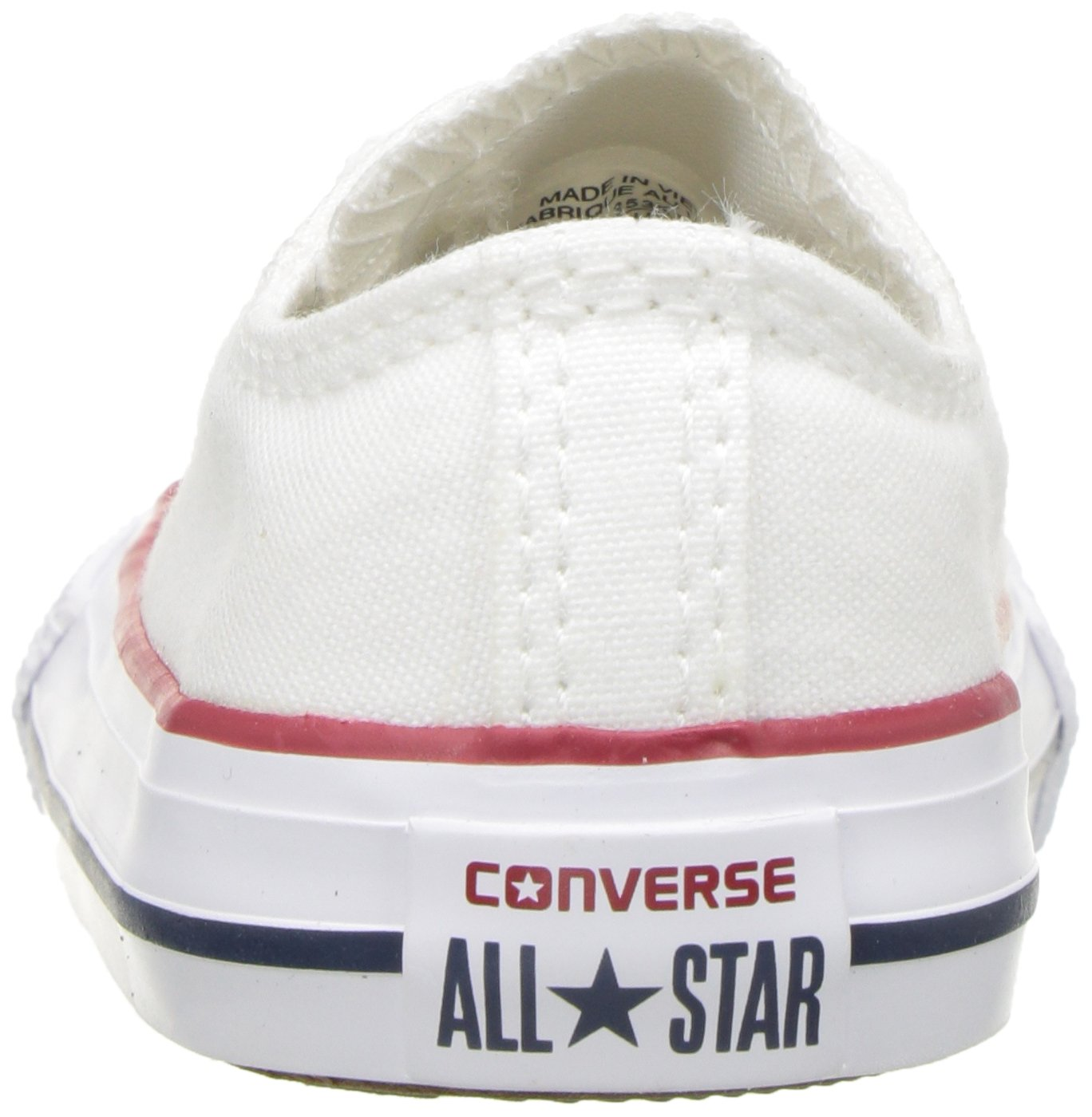 Converse Chuck Taylor All Star Canvas Low Top Sneaker, Optical White, 13.5 M US Little Kid by Converse (Image #2)