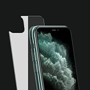 JingooBon Back Screen Protector Compatible with iPhone 11 Pro Max [2-Pack], Rear Tempered Glass [New Generation] Temper Glass Film Anti-Fingerprint/Scratch Compatible with iPhone11 Pro Max (6.5 inch)