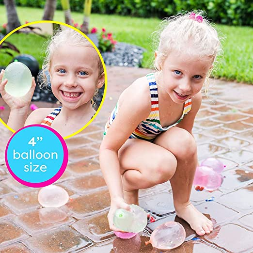Water Balloons for Girls Boys Party Games Quick Fill Water Balloons 592 Balloons 17 Bunches for Balloons Swimming Pool Outdoor Summer Fun