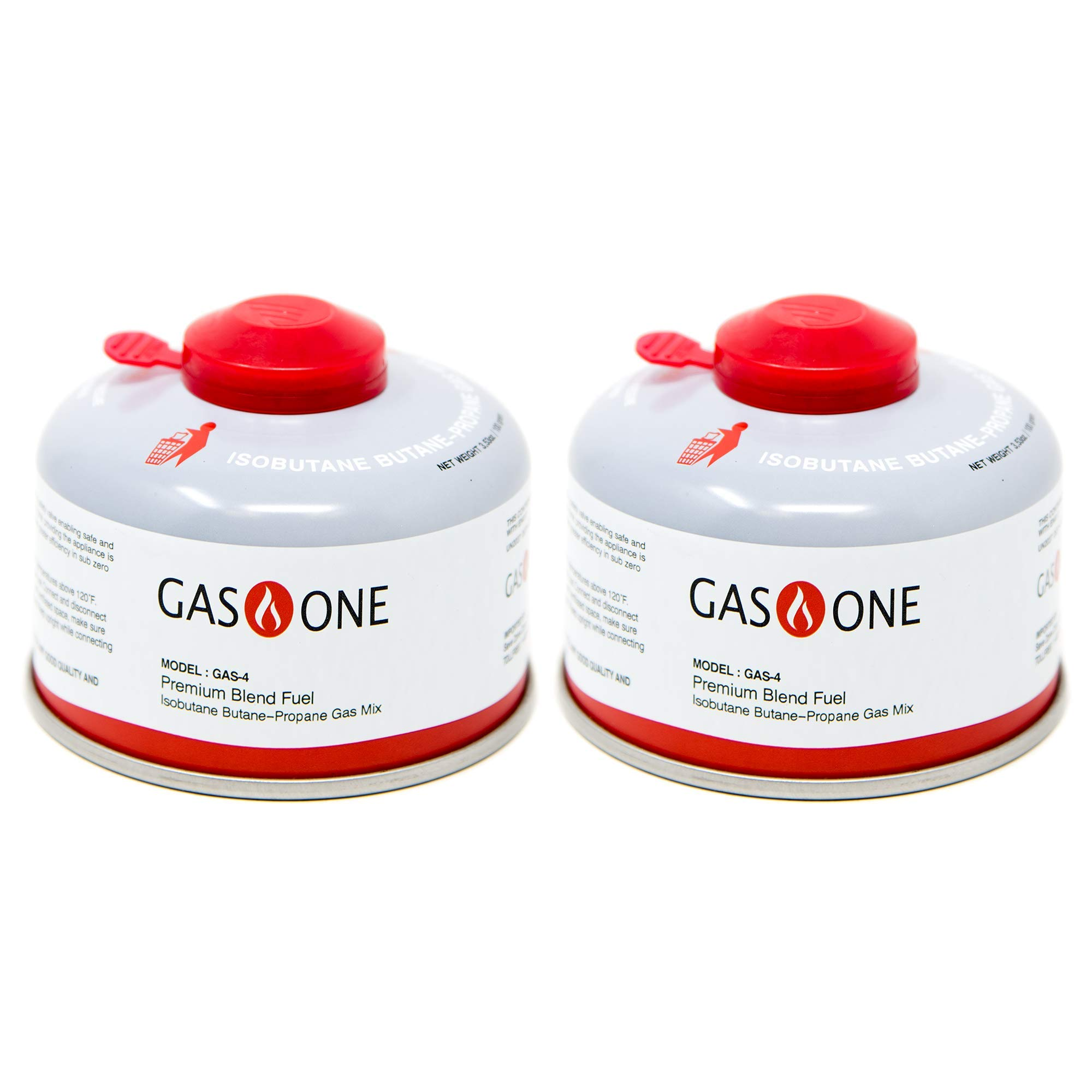 GasOne Camping Fuel Blend Isobutane Fuel Canister 100g (2 Pack) by GasOne