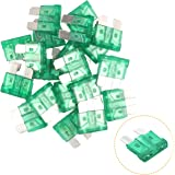 KUFUNG 30Amp Car Fuses, Standard Automotive Fuses Assortment, Auto Blade Fuse for Car, Truck, Boat, Marine, RV, SUV, Trike, V