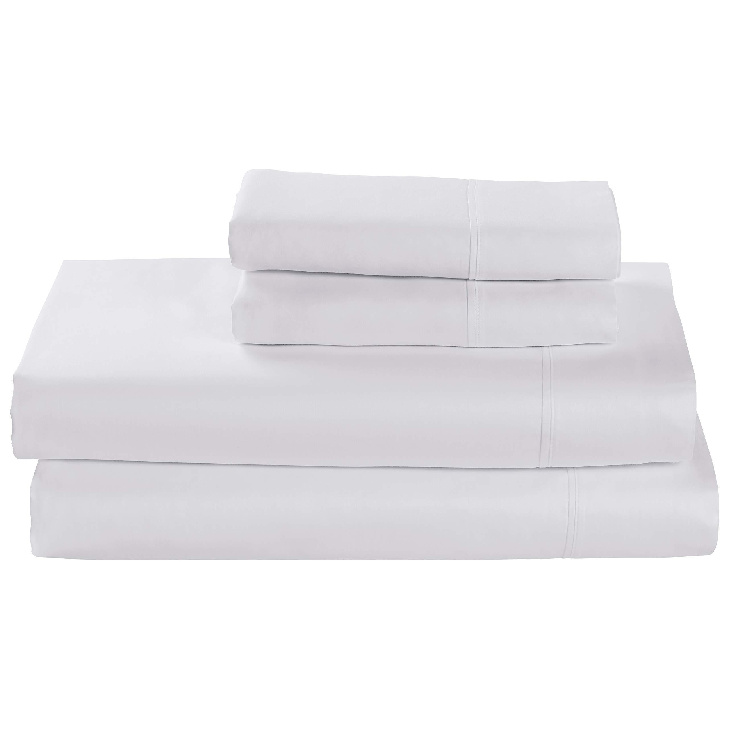 Rivet Cotton Tencel Bed Sheet Set, Soft and