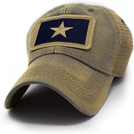 Orange//Khak State of FLORIDA Flag Hat SnapBack Trucker Mesh Cap Made in the USA