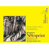 "Strathmore 307-318 300 Series Mega Newsprint Pad, Rough 18""x24"" Tape Bound, 60 Sheets"