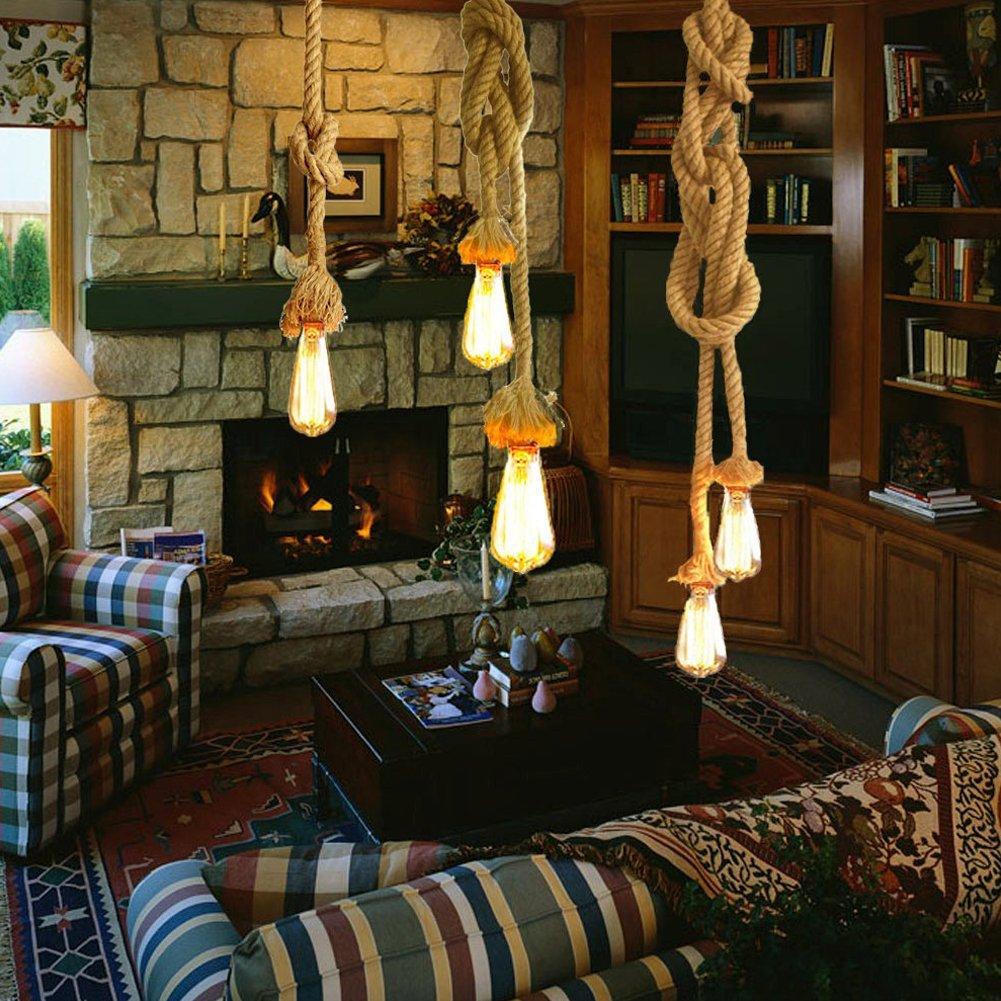 Rond /électrique Corde lumi/ère Cord 5/m 3/C/œurs antique vintage Corde Fil pour DIY Industrial Light Lampe suspendue 2/C/œurs