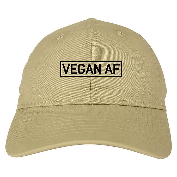 0ab3a6ae6c959 Vegan AF Vegetarian Dad Hat Baseball Cap Beige at Amazon Men s ...