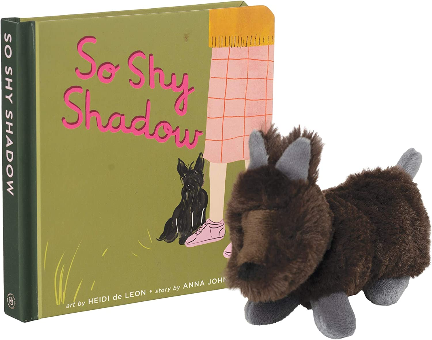 Manhattan Toy So Shy Shadow Baby and Toddler Board Book + Scottie Stuffed Animal Dog Gift Set