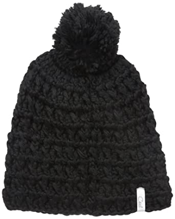 c0182fb565c Amazon.com  Coal Women s Hand-Crocheted Waffle-Knit Beanie with Pom   Clothing