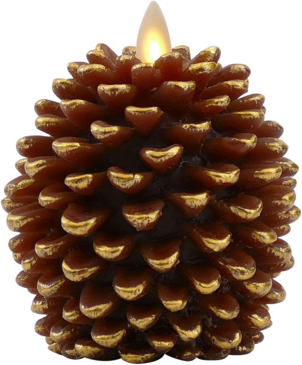 Luminara Pine Cone Candles Luminara Flameless Candles Unscented Brown with Timer