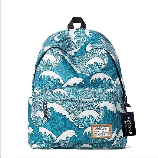 3 opinioni per Artone Kanagawa Surf Imbottito Scuola Borsa Daypack Casuale Zaino Con Il