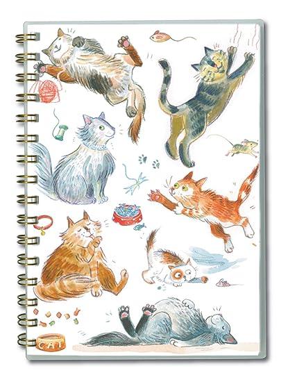 Padblocks A5 cuaderno Wirobound - con diseño de gatos ...