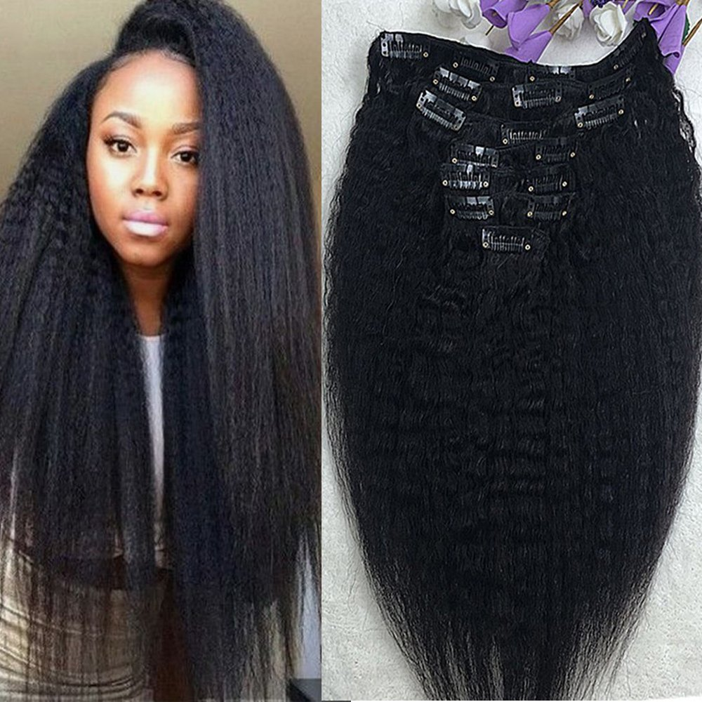 Amazon Full Shine 20 7 Pcs 100g Kinky Straight Human Hair