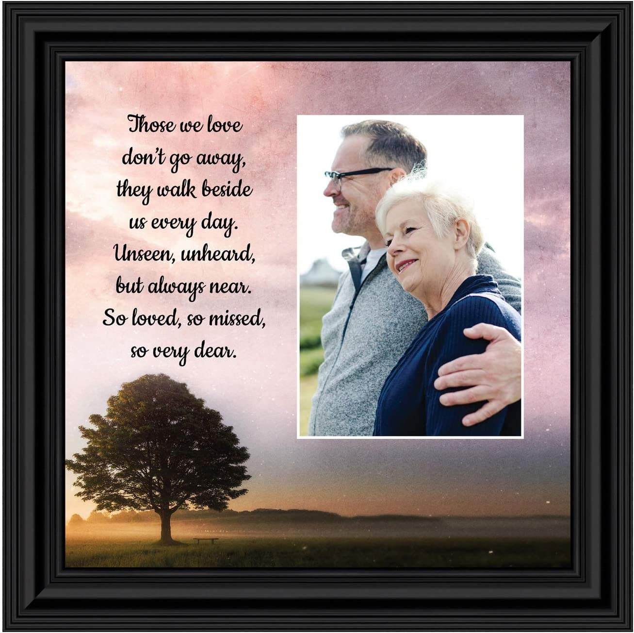 Those We Love Sympathy Gift Picture Frames, Memorial Gifts for Your Condolence Gift Baskets and Sympathy Cards, Bereavement Gifts, in Memory of Loved One, Framed Home Décor, 6433B
