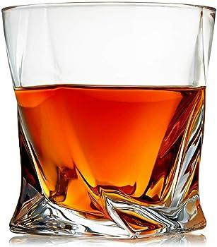 Venero Crystal Set Of 4 Rock Whiskey Glasses