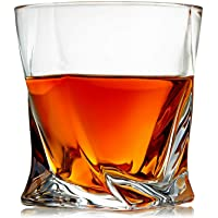 Venero Crystal Whiskey Glasses, Set of 4 Rocks Glasses in Gift Box - Lowball Bar...