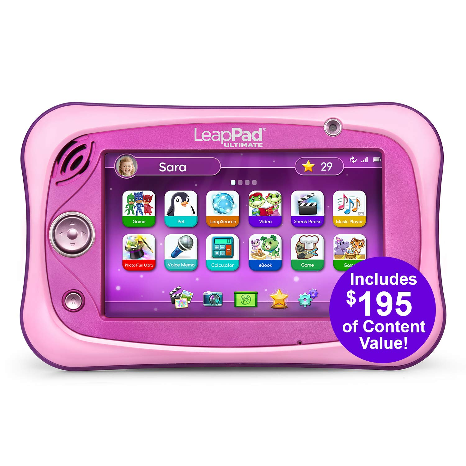 LeapFrog LeapPad Ultimate Ready for School Tablet, Pink by LeapFrog