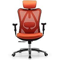 SIHOO Ergonomische bureaustoel, draaistoel met verstelbare lendensteun, hoofdsteun en armleuning, hoogteverstelling en…