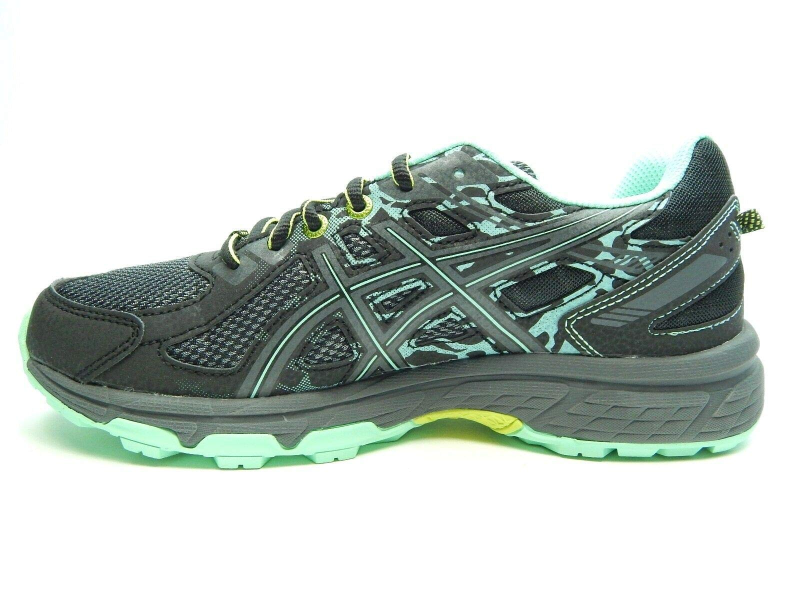 ASICS Women's Gel-Venture 6 Running-Shoes, Black/Carbon/Neon Lime, 8.5 by ASICS