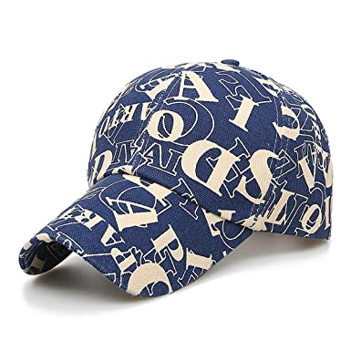 5ff0bd4812ad Youstylo Premium Cotton Summer Baseball Sports Cap for Men (Blue Alphabet)   Amazon.in  Clothing   Accessories