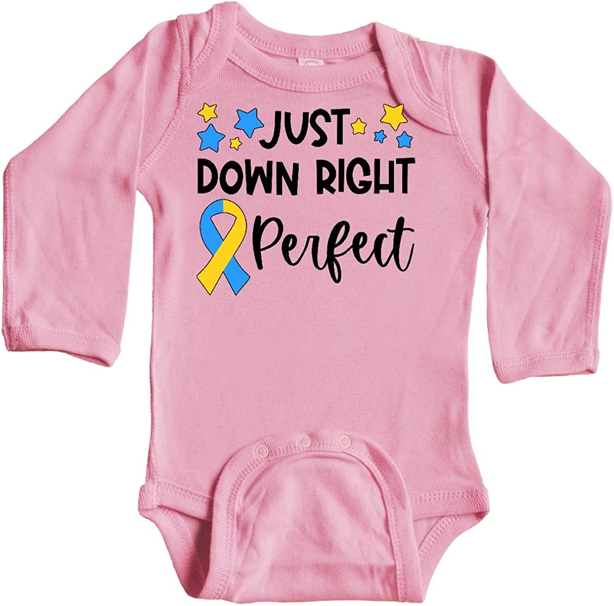 inktastic Just Down Right Perfect Down Syndrome Awareness Long Sleeve Creeper