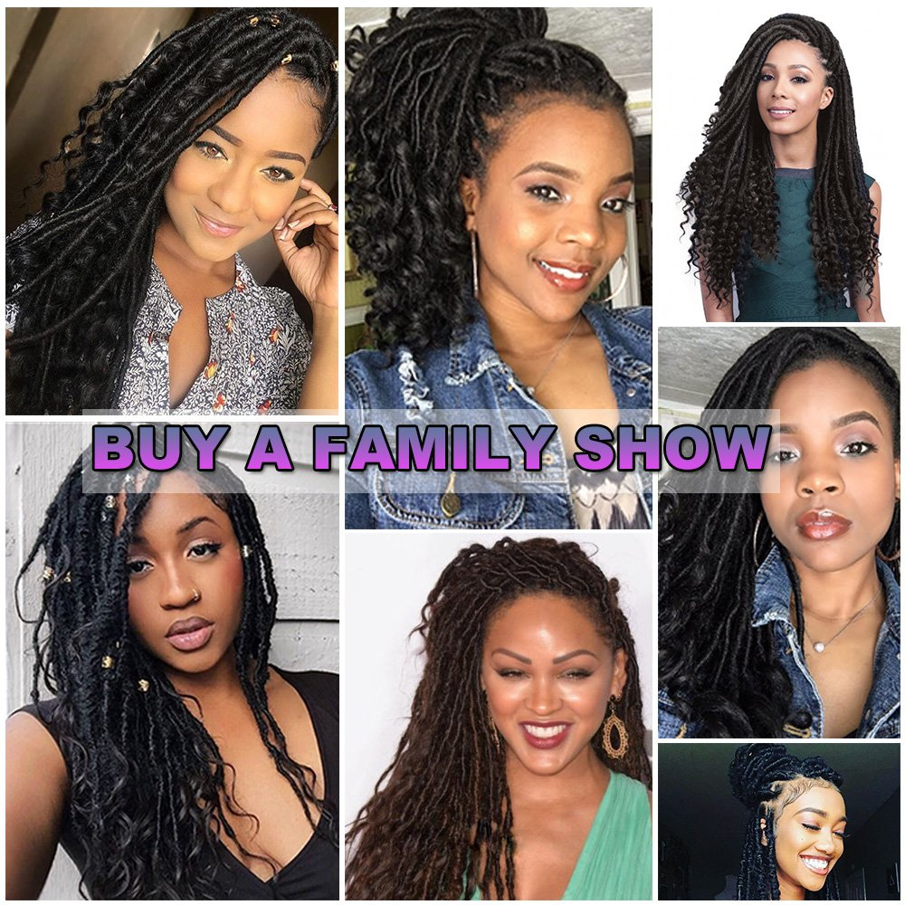 Gabrielle 6 Pack 20Inch 2# Goddess Locs Gypsy Crochet Hair With Curly Ends Kanekalon Synthetic Hair Twist Braiding Goddess Hair Extensions 24 Roots 110 g (3.8 oz)/Pack by Gabrielle (Image #6)