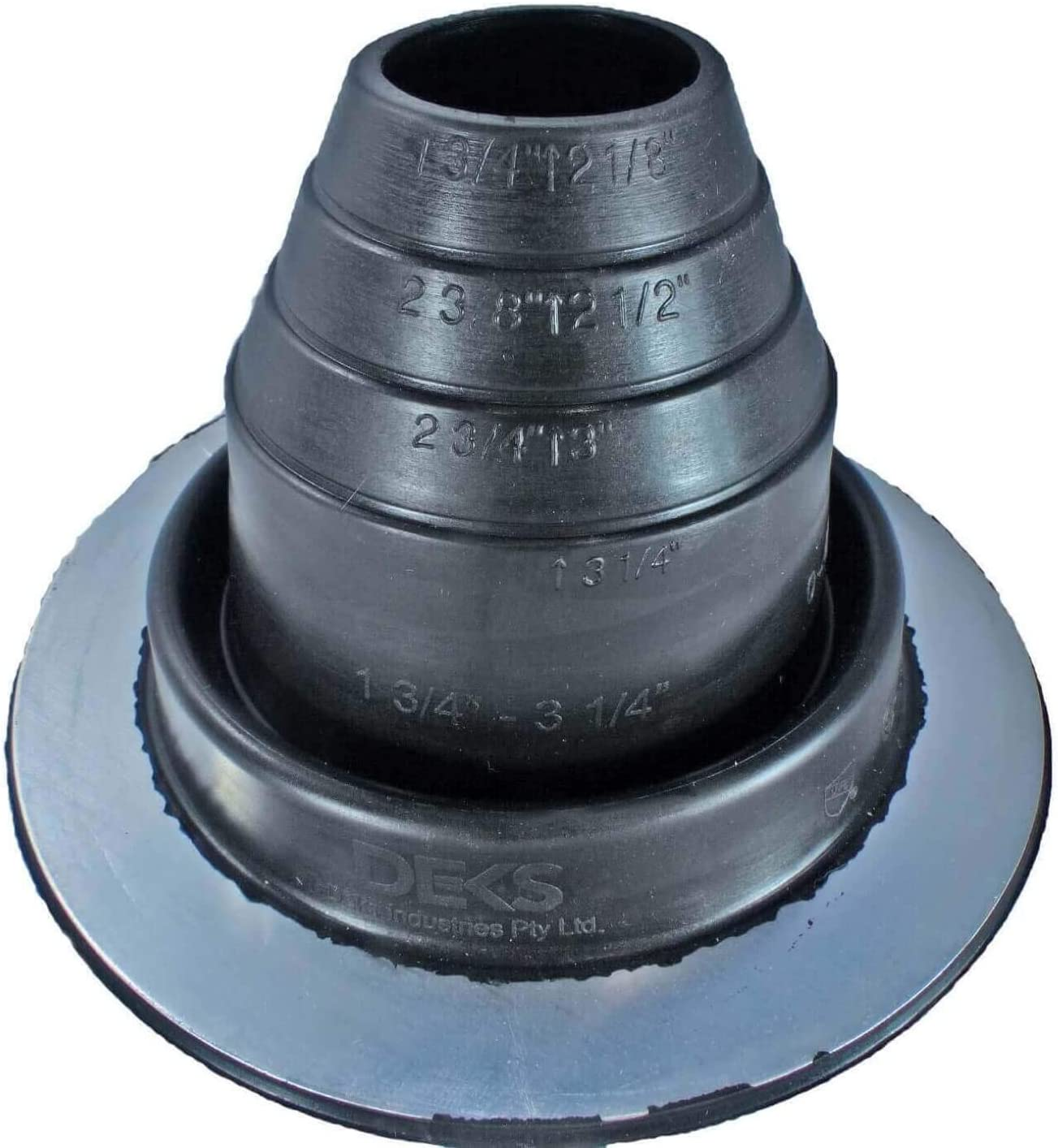 Pipe OD 1//4 to 2 Flashers #1 White EPDM Flexible Roof Jack Pipe Boot Metal Roofing Pipe Flashing
