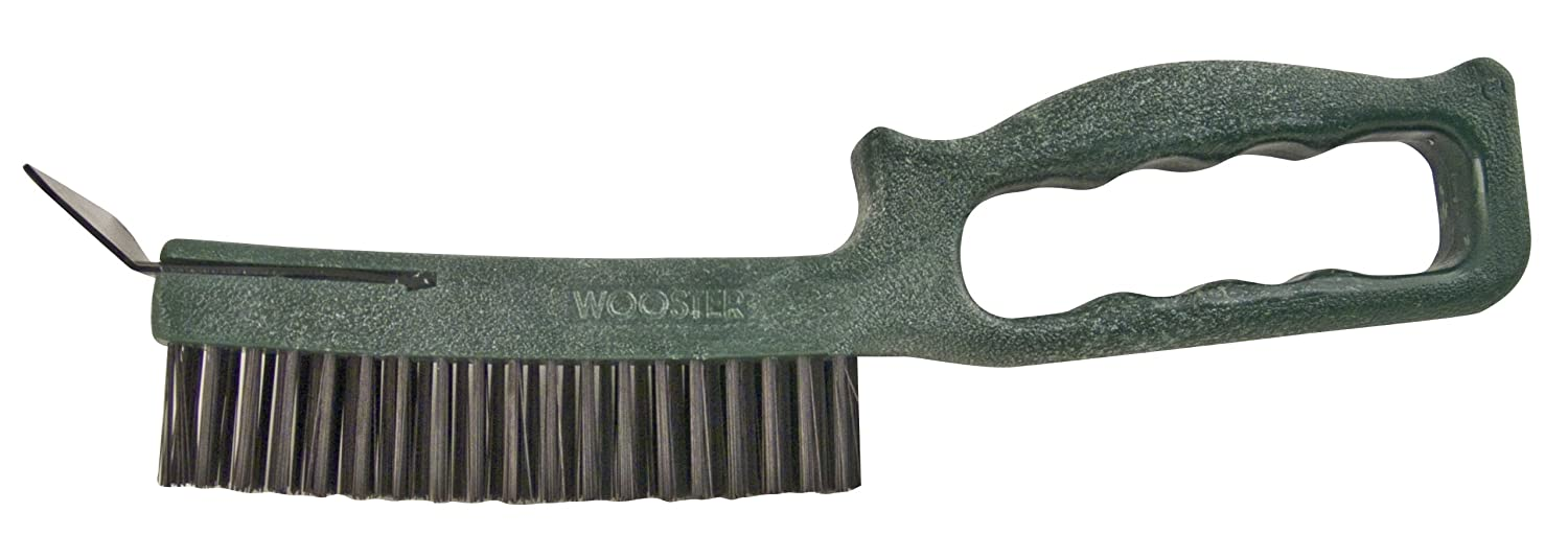 Wooster Brush 1821 Longneck Wire Brush with Scraper