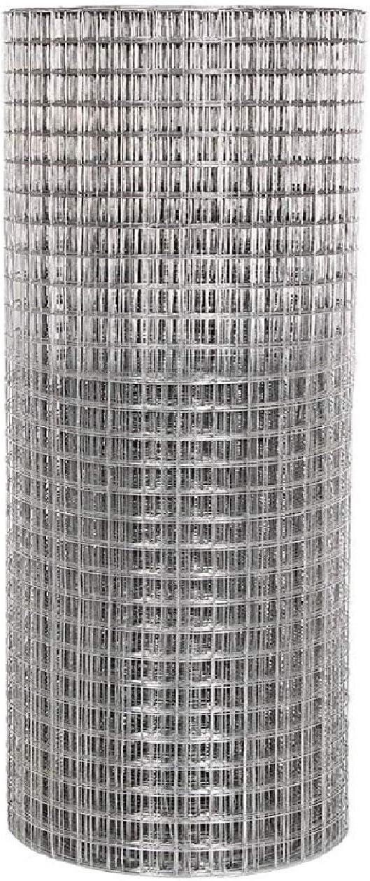Cl/ôture en treillis soud/é galvanis/é 2,5 x 2,5/cm pour voli/ère lapin poules 1.2*30M