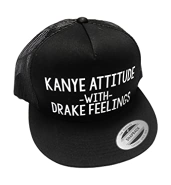 ce8945f4428 Amazon.com  Kanye Attitude With Drake Feelings Hat Snapback (One Size