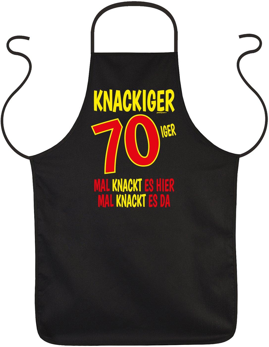 Geschenk Zum 70 Geburtstag Schurze Knackiger 70iger Zum 80